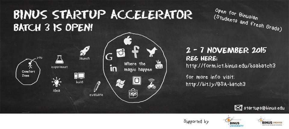 BINUS Startup Accelerator: Batch 3